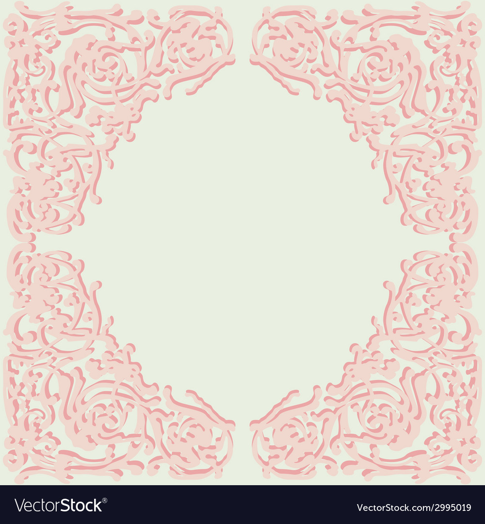 Exquisite frame doodle style vector | Price: 1 Credit (USD $1)
