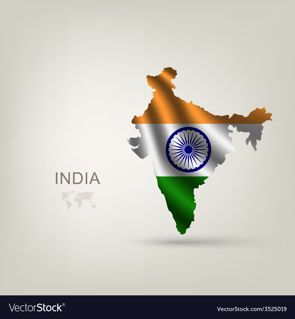Flag of india as a country vector | Price: 1 Credit (USD $1)