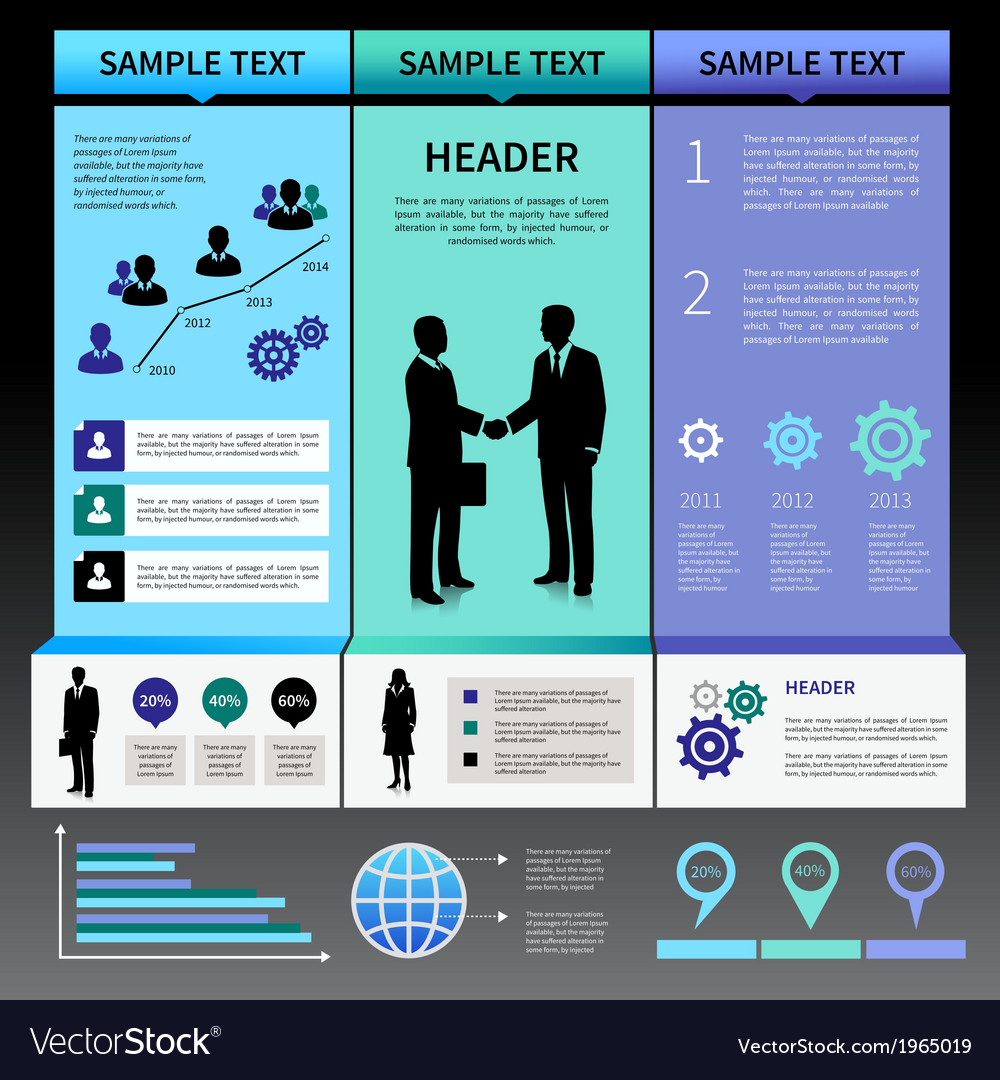Infographics presentation layout template vector | Price: 1 Credit (USD $1)
