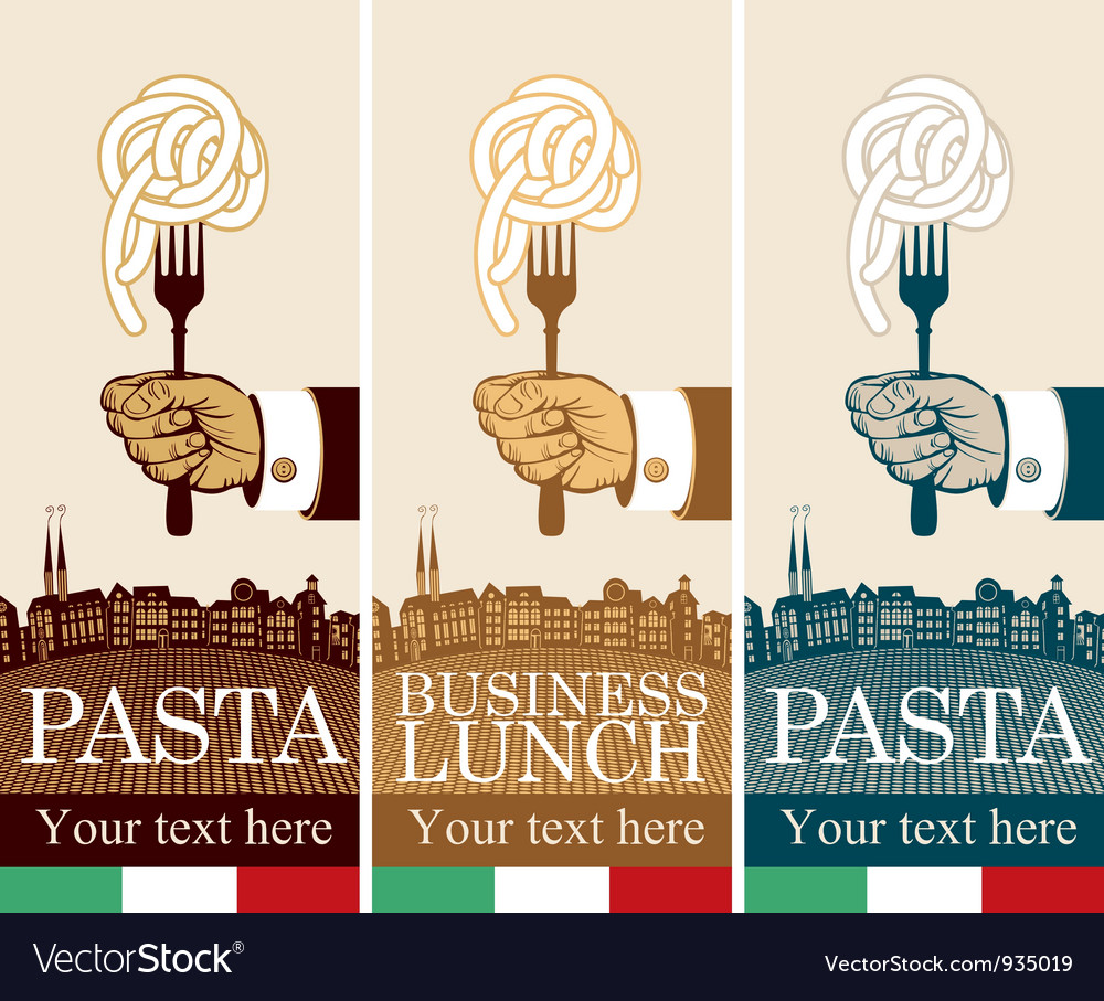 Pasta on fork vector | Price: 3 Credit (USD $3)