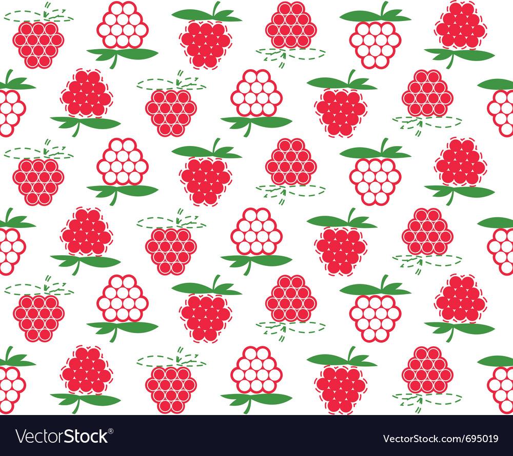 Raspberry background vector | Price: 1 Credit (USD $1)