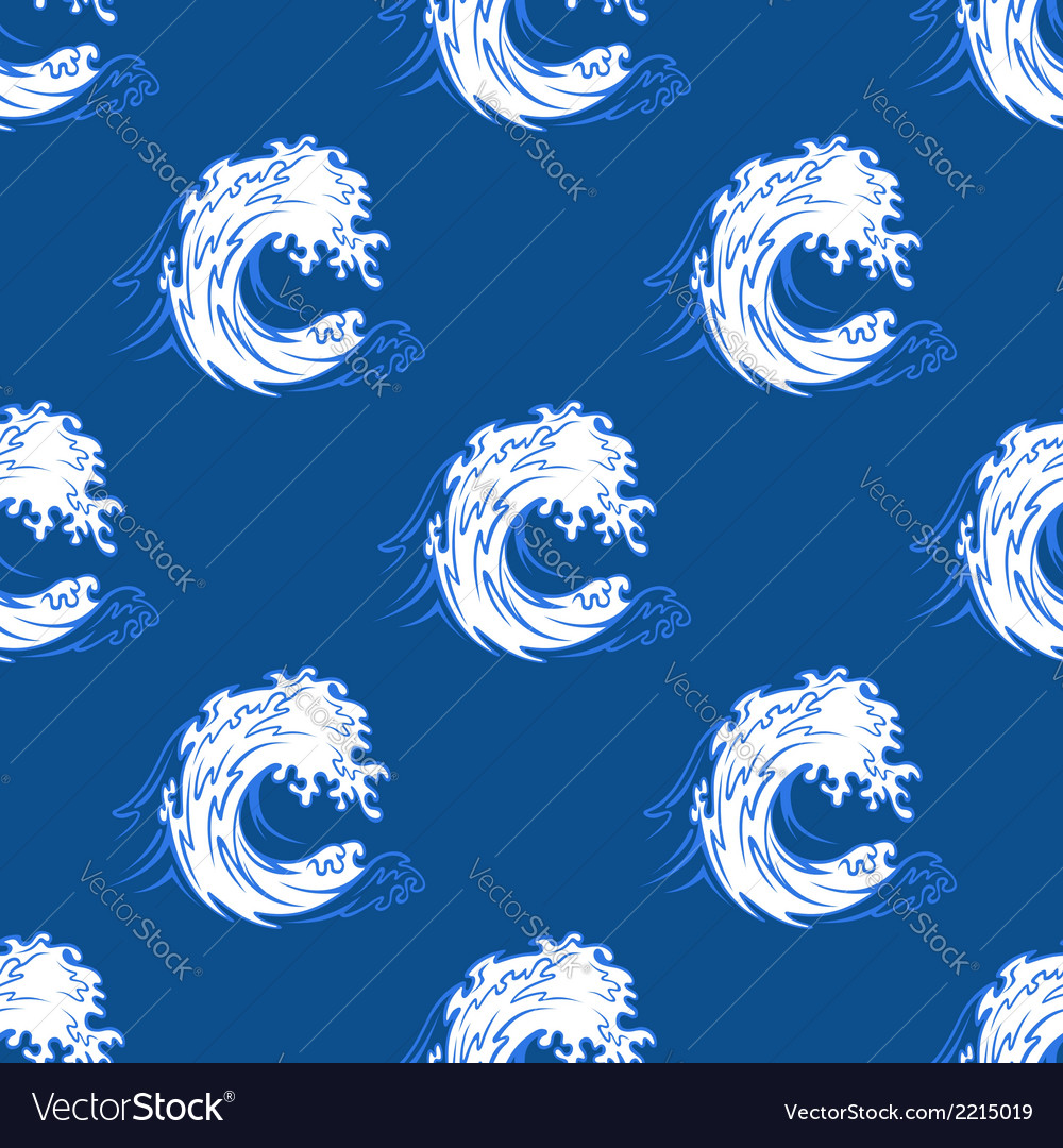 Seamless background pattern of a curling wave vector | Price: 1 Credit (USD $1)