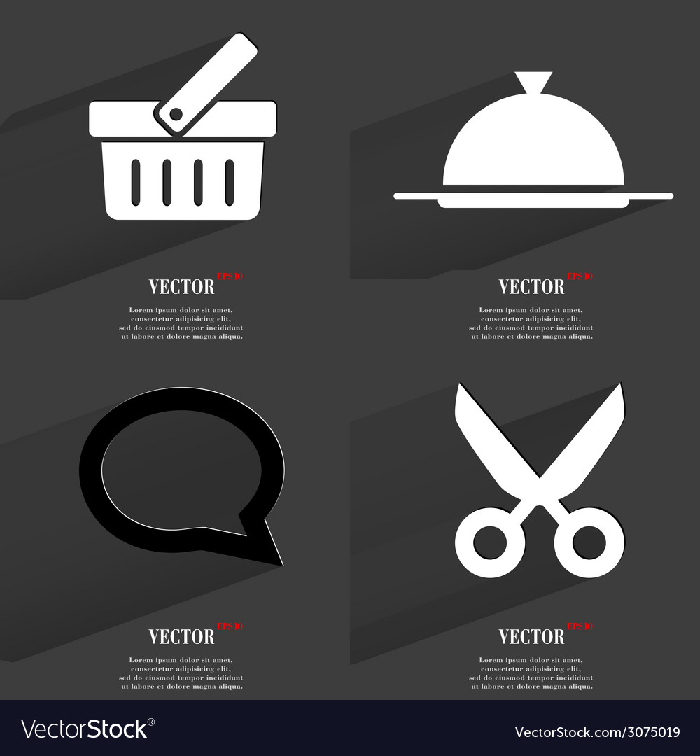 Set of icons collection symbols modern flat web vector   Price: 1 Credit (USD $1)