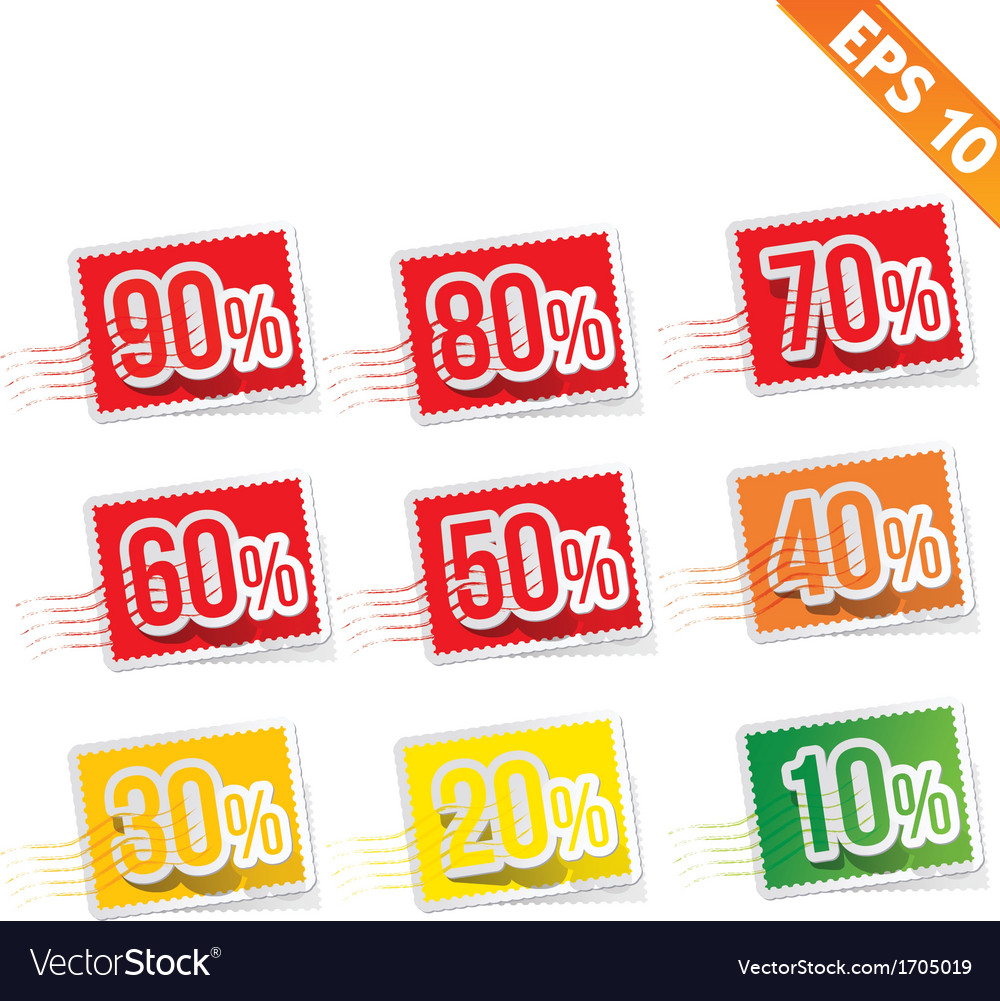Stamp sale discount - - eps10 vector | Price: 1 Credit (USD $1)