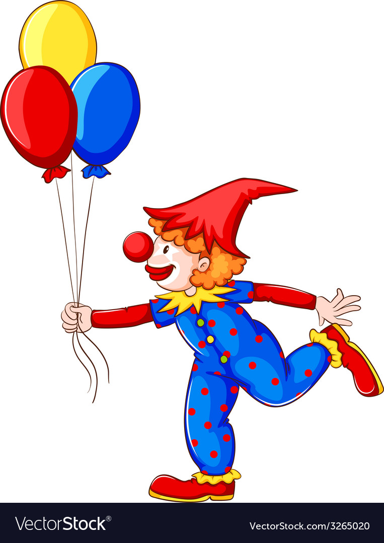 A clown with balloons vector | Price: 1 Credit (USD $1)