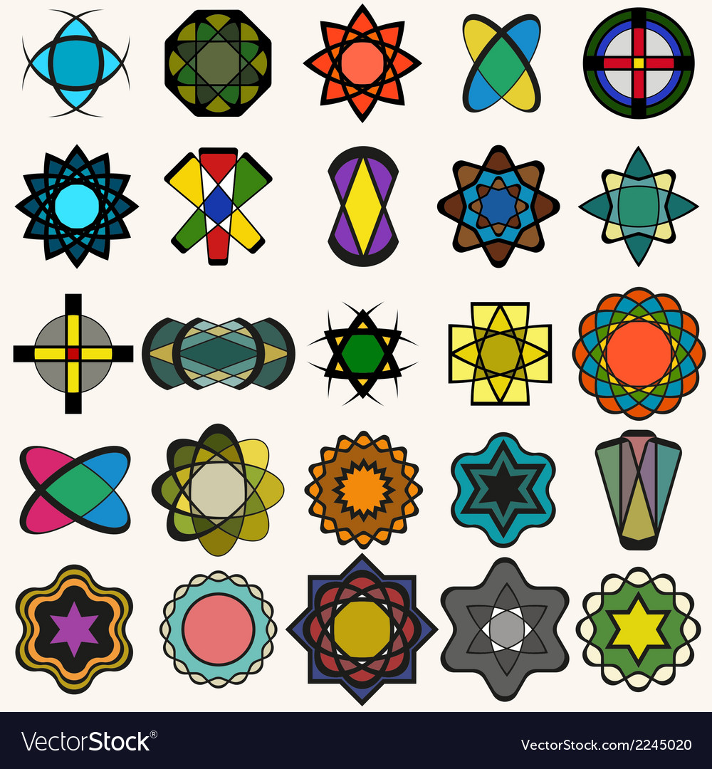 Abstract design elements collection vector | Price: 1 Credit (USD $1)