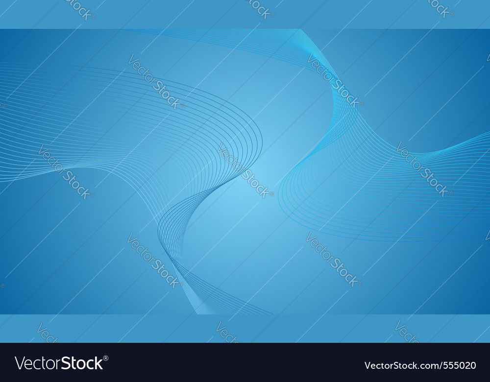 Blue wavy background vector | Price: 1 Credit (USD $1)