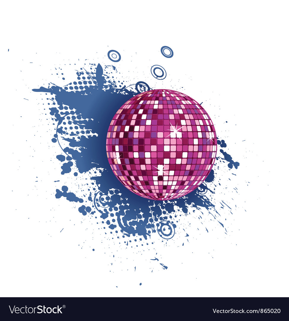 Discoball with grunge vector | Price: 1 Credit (USD $1)