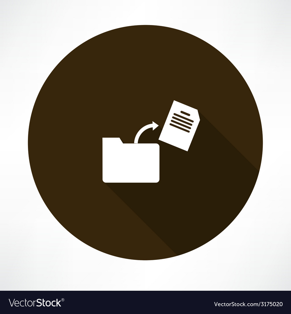 Document in the folder icon vector | Price: 1 Credit (USD $1)