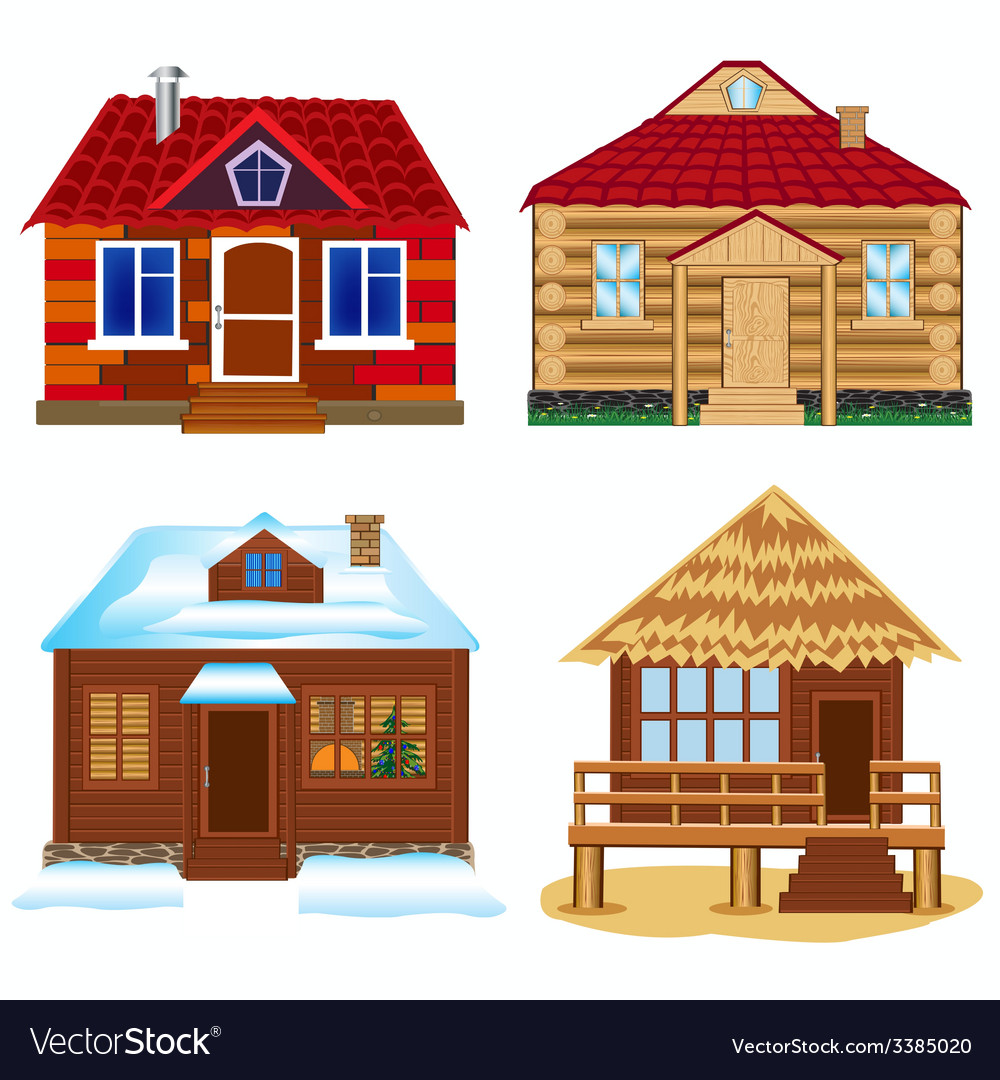 Four buildings vector | Price: 3 Credit (USD $3)