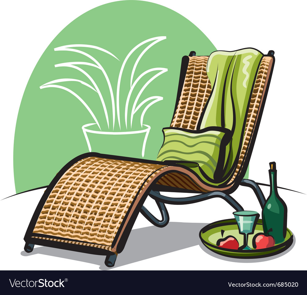 Lounge chair vector | Price: 3 Credit (USD $3)