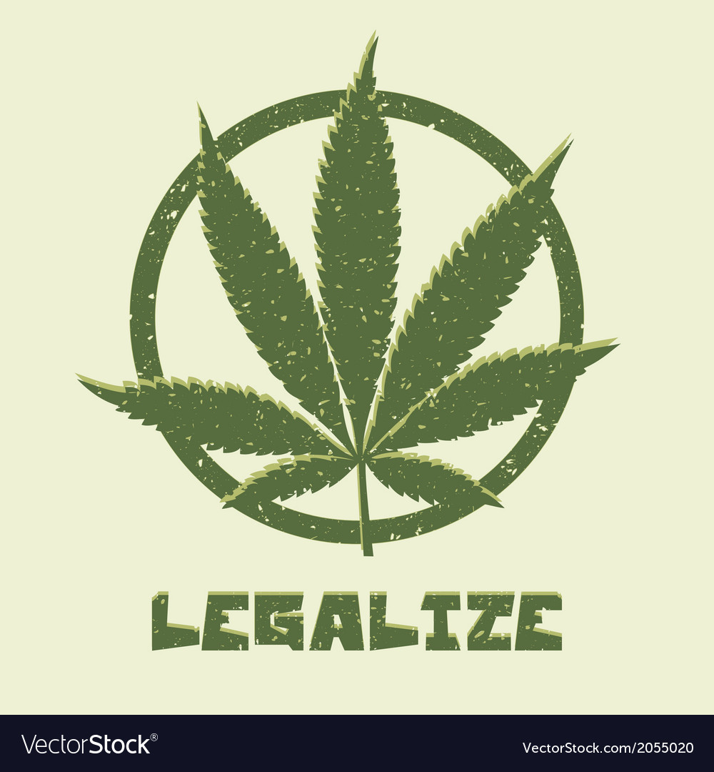 Marijuana leaf legalize vector | Price: 1 Credit (USD $1)