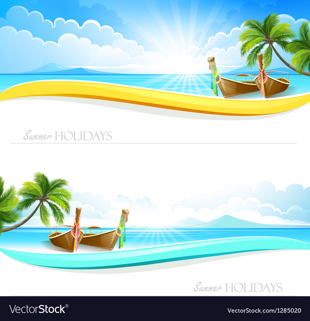 Paradise island backgrounds vector | Price: 5 Credit (USD $5)