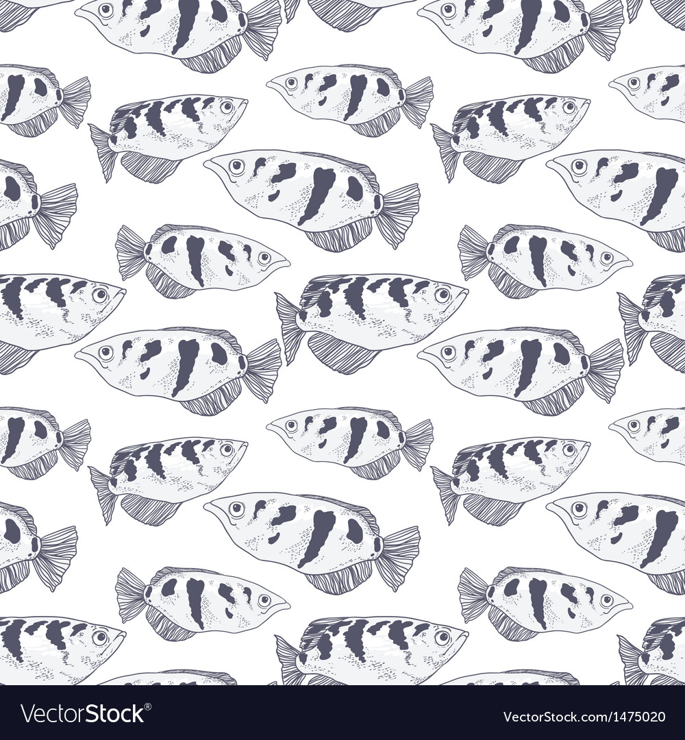 Seamless background with fish vector | Price: 1 Credit (USD $1)