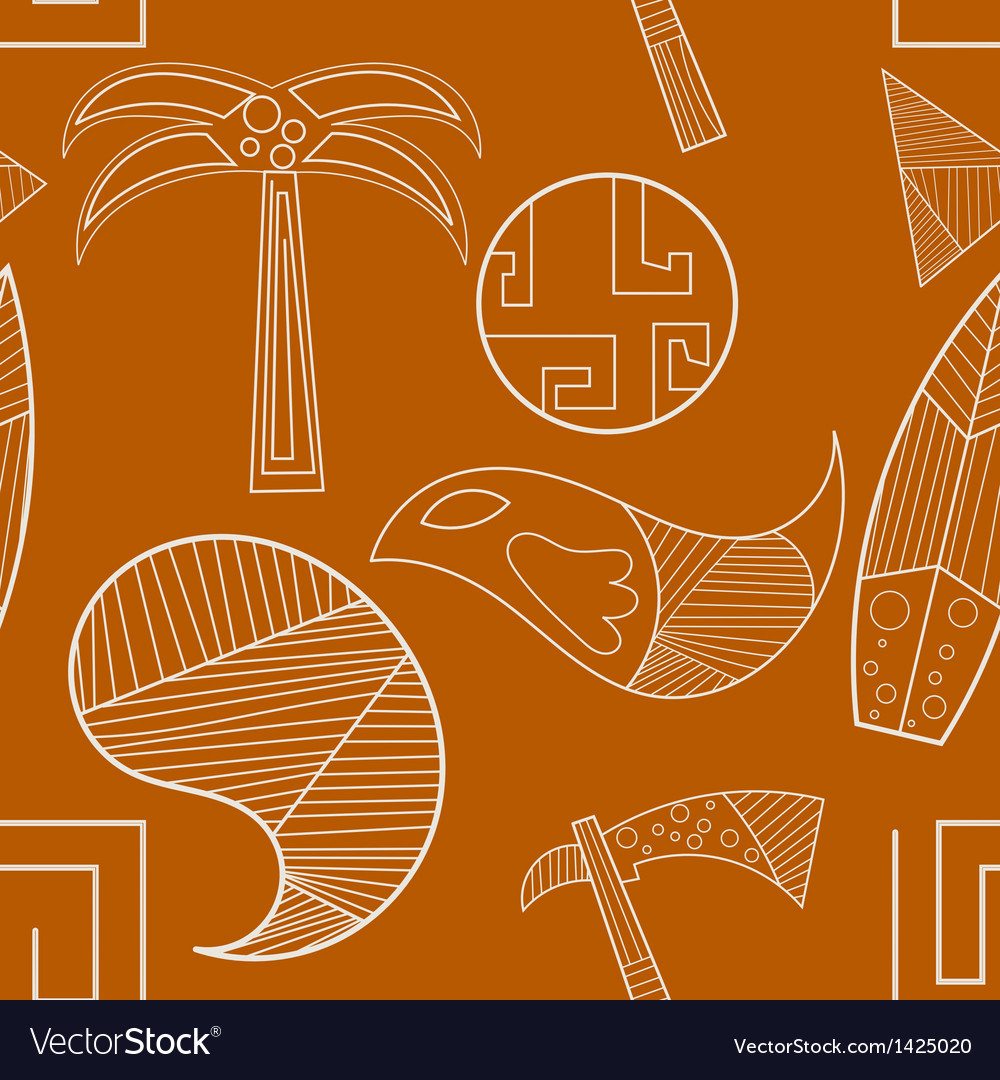 Seamless texture with elements of ancient art vector | Price: 1 Credit (USD $1)