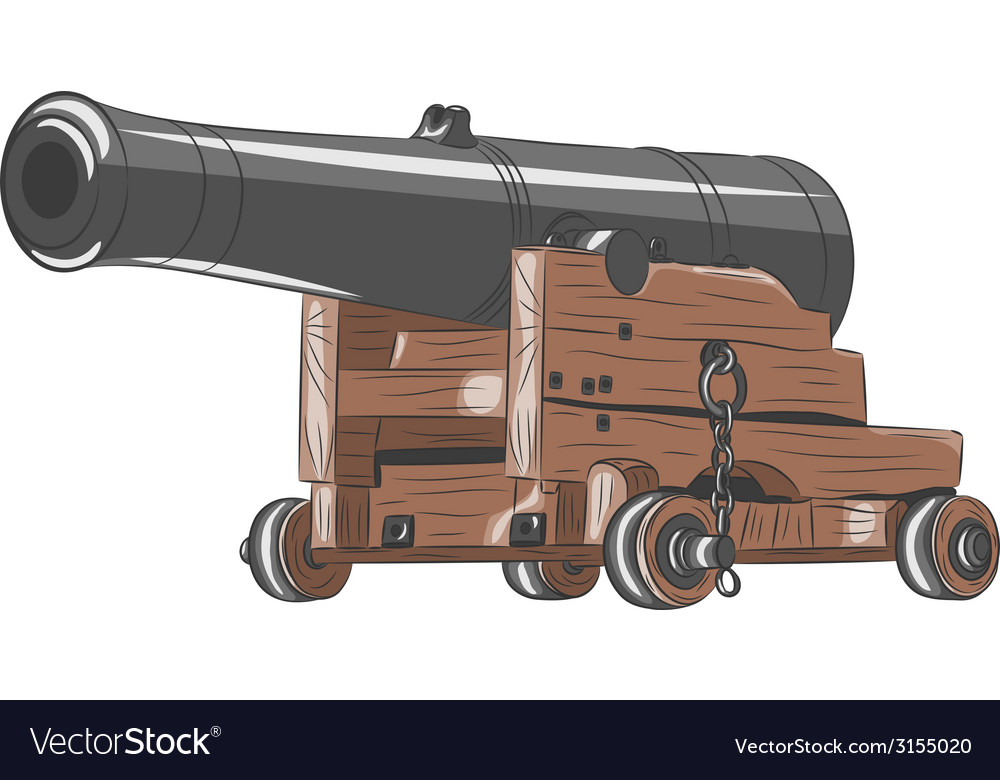Ship gun vector | Price: 1 Credit (USD $1)