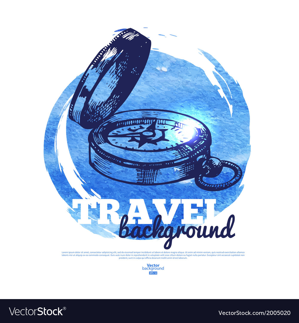 Travel vintage banner vector | Price: 1 Credit (USD $1)