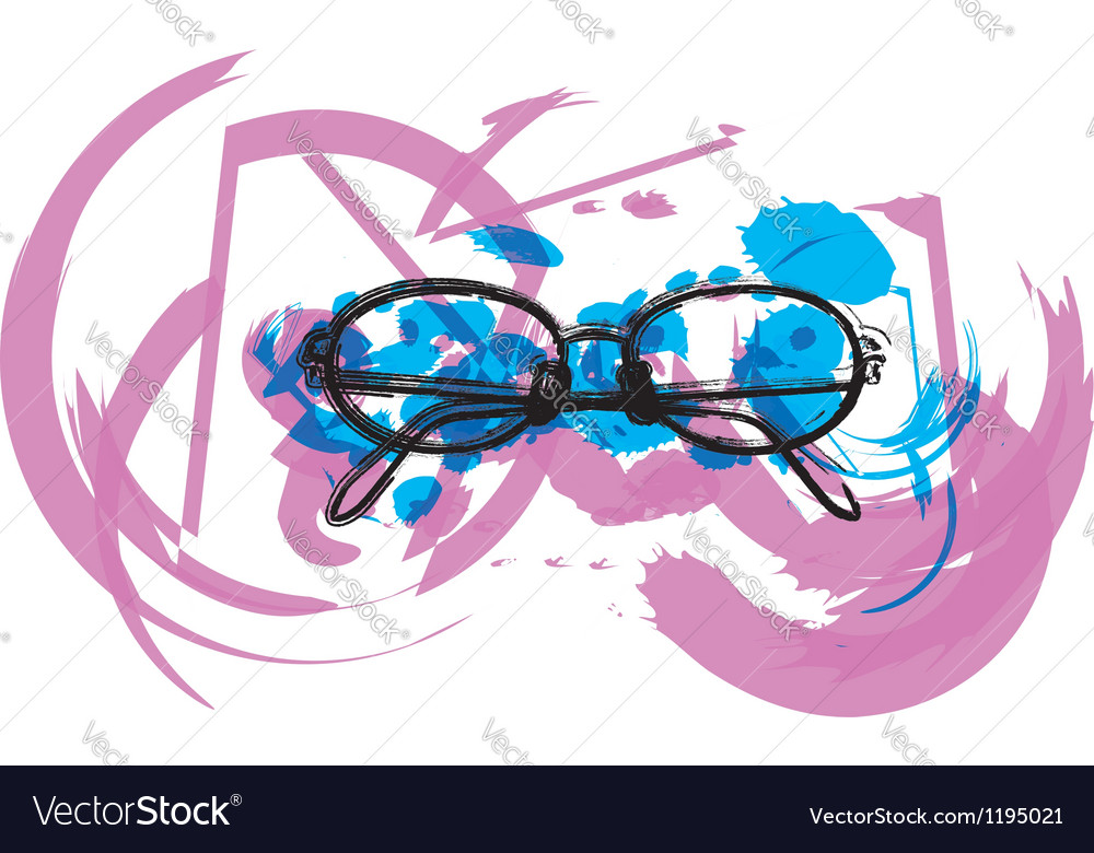 Abstract eyeglasses vector | Price: 1 Credit (USD $1)