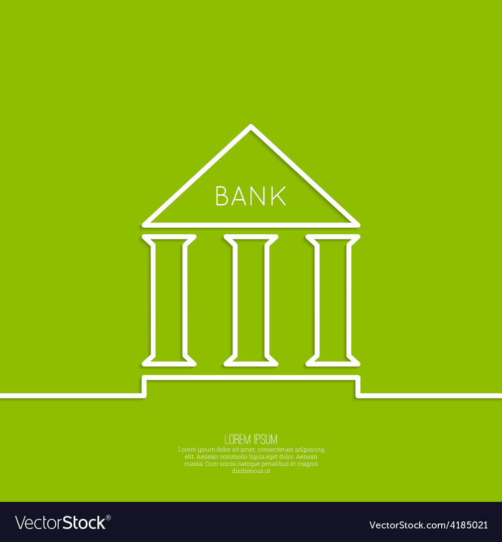 Bank building with columns vector | Price: 1 Credit (USD $1)