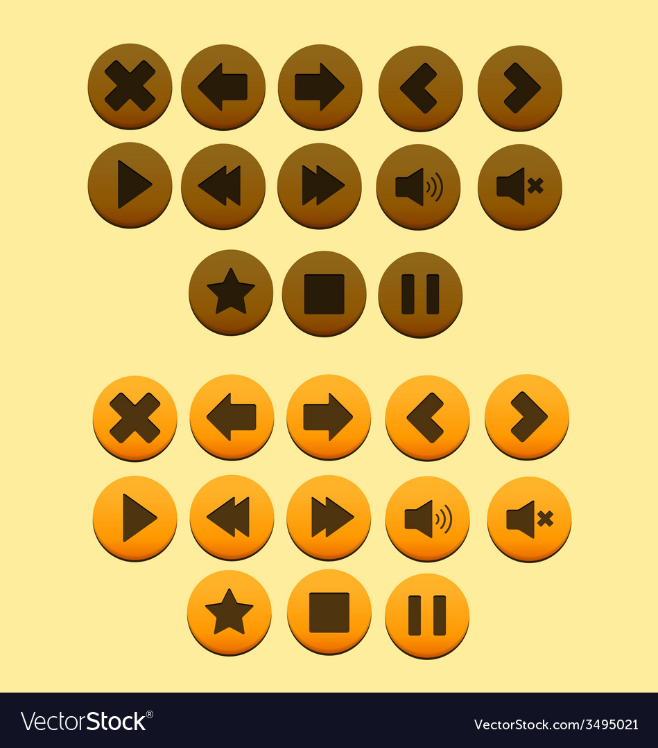 Buttons game vector | Price: 1 Credit (USD $1)
