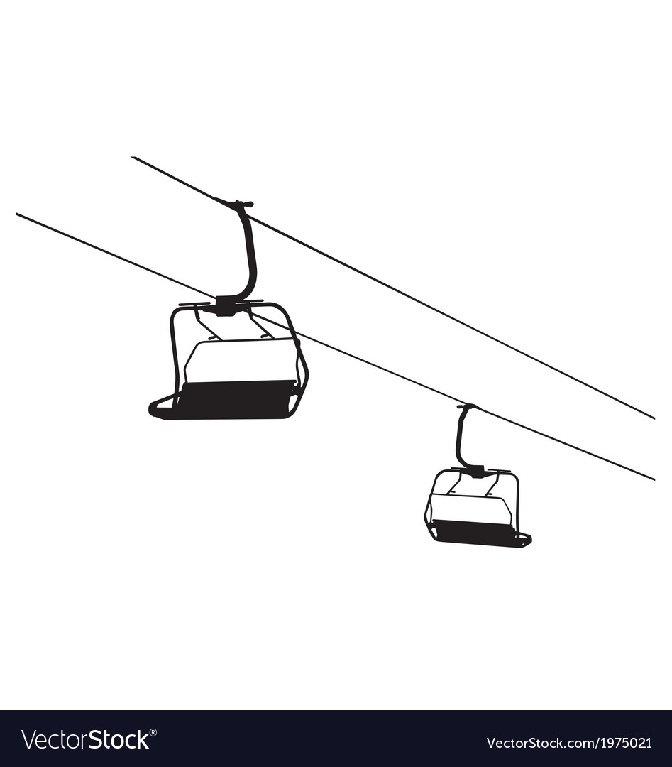 Chairlift vector | Price: 1 Credit (USD $1)