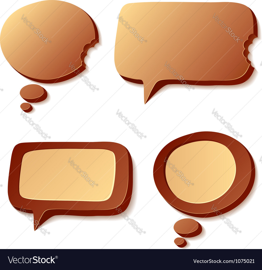 Chocolate speech and idea bubbles vector | Price: 1 Credit (USD $1)
