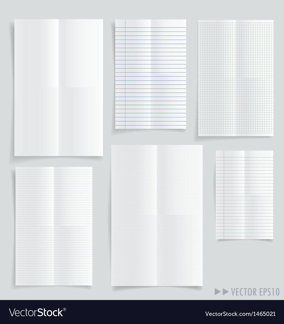 Collection of white papers vector | Price: 1 Credit (USD $1)