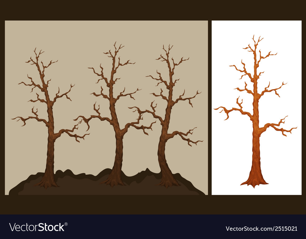 Dry tree vector | Price: 1 Credit (USD $1)