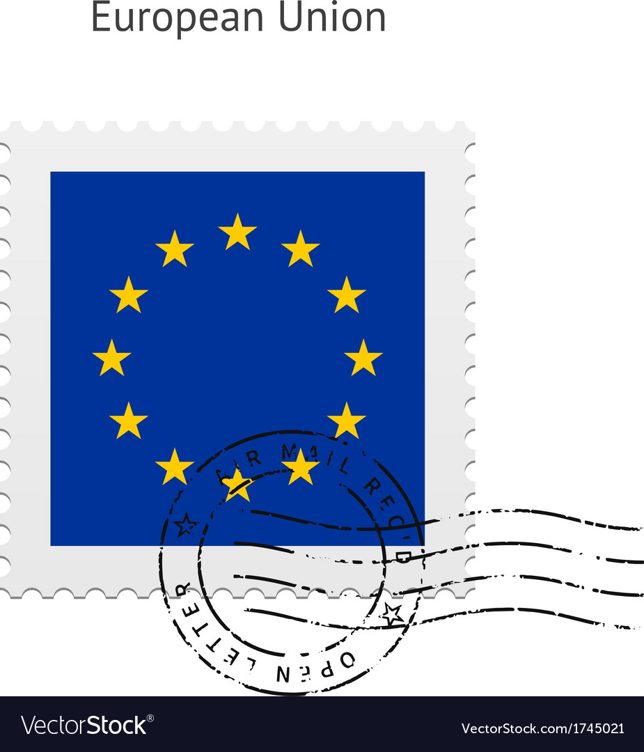 European union flag postage stamp vector | Price: 1 Credit (USD $1)