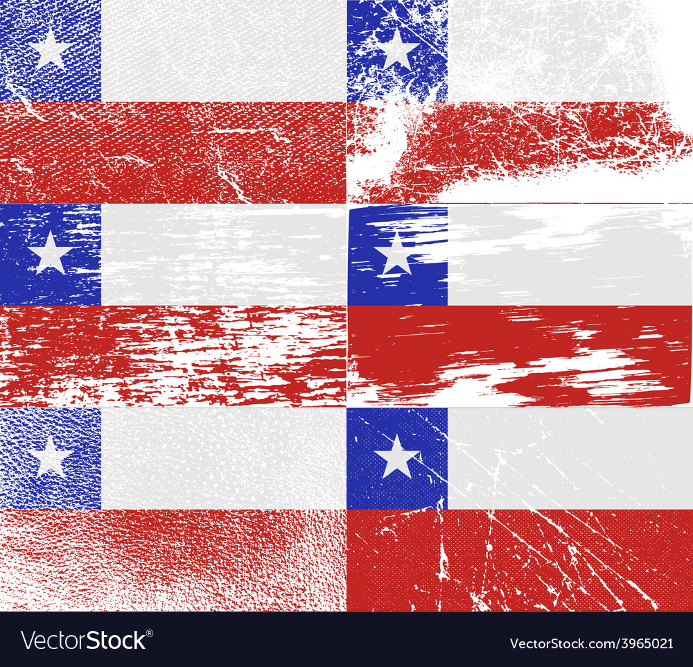 Flag of chile with old texture vector | Price: 1 Credit (USD $1)