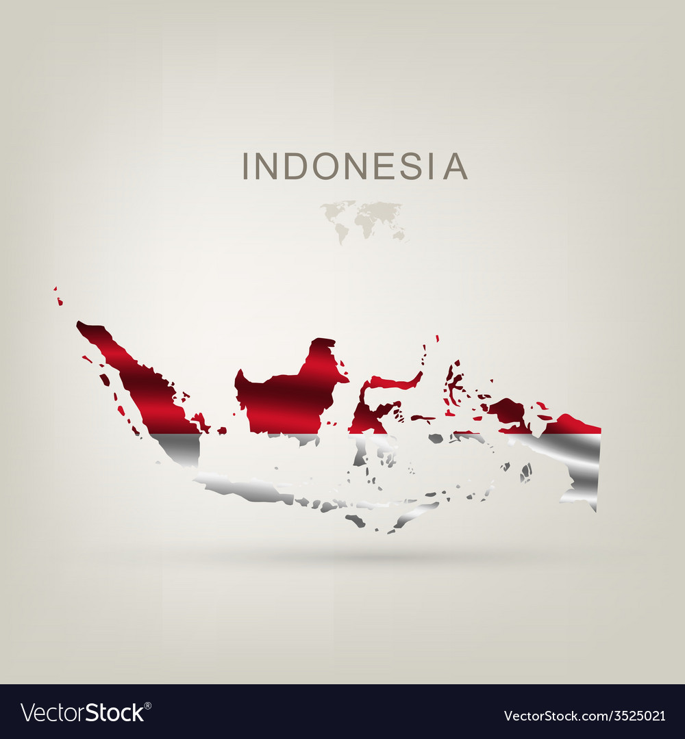 Flag of indonesia as a country vector | Price: 1 Credit (USD $1)