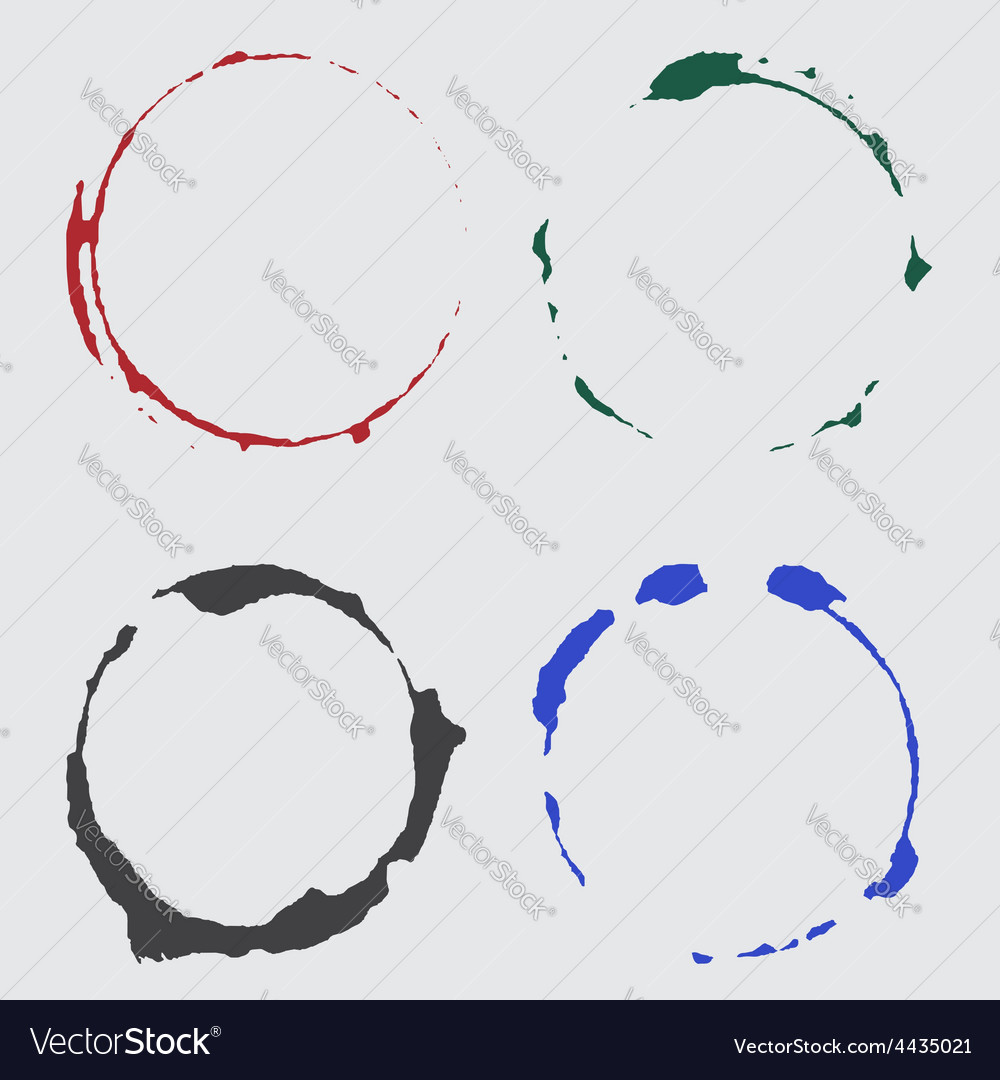 Ink cup spots in color vector   Price: 1 Credit (USD $1)