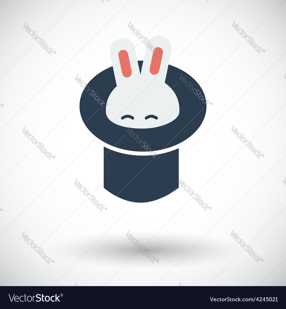 Rabbit in magician hat vector
