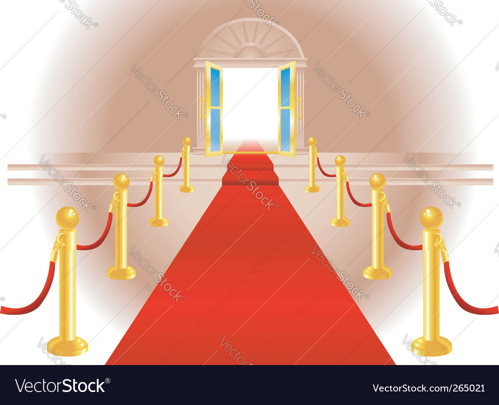 Red carpet vector | Price: 3 Credit (USD $3)