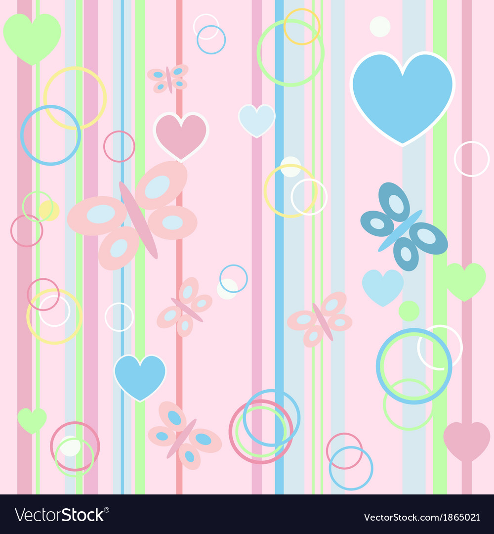 Set baby butterfly card vector | Price: 1 Credit (USD $1)