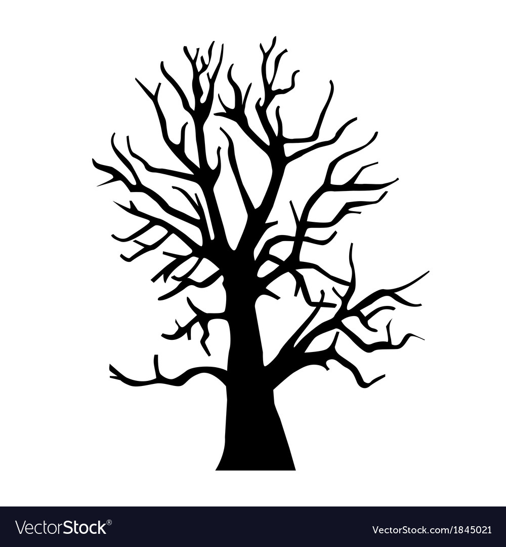 Silhouette old dry wood vector | Price: 1 Credit (USD $1)