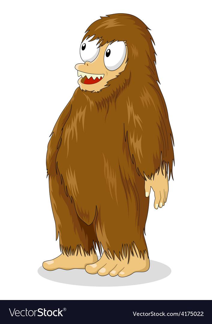 Bigfoot cartoon vector | Price: 1 Credit (USD $1)