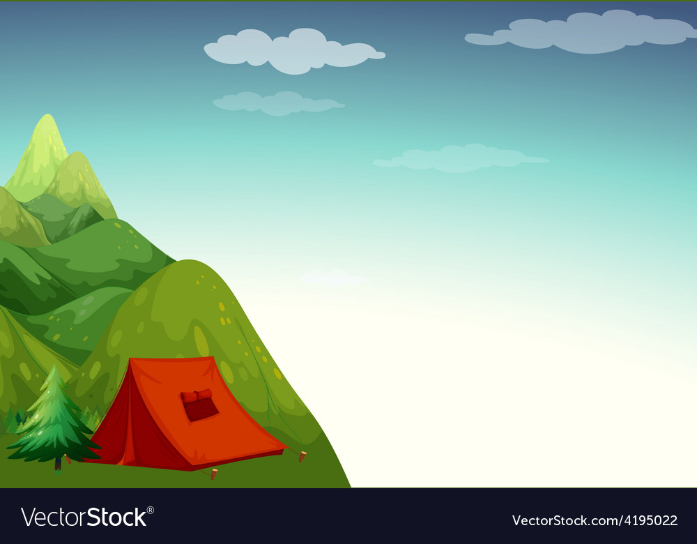 Camping site vector | Price: 3 Credit (USD $3)