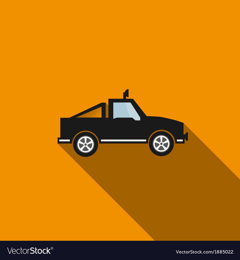 Car icon 4 long shadow vector | Price: 1 Credit (USD $1)