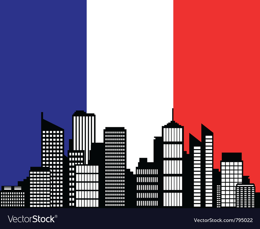 City and flag of france vector | Price: 1 Credit (USD $1)