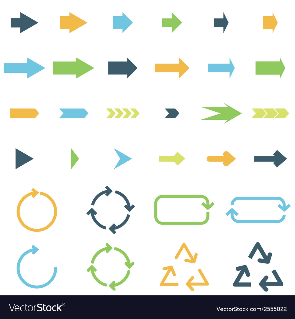 Colored arrows vector | Price: 1 Credit (USD $1)