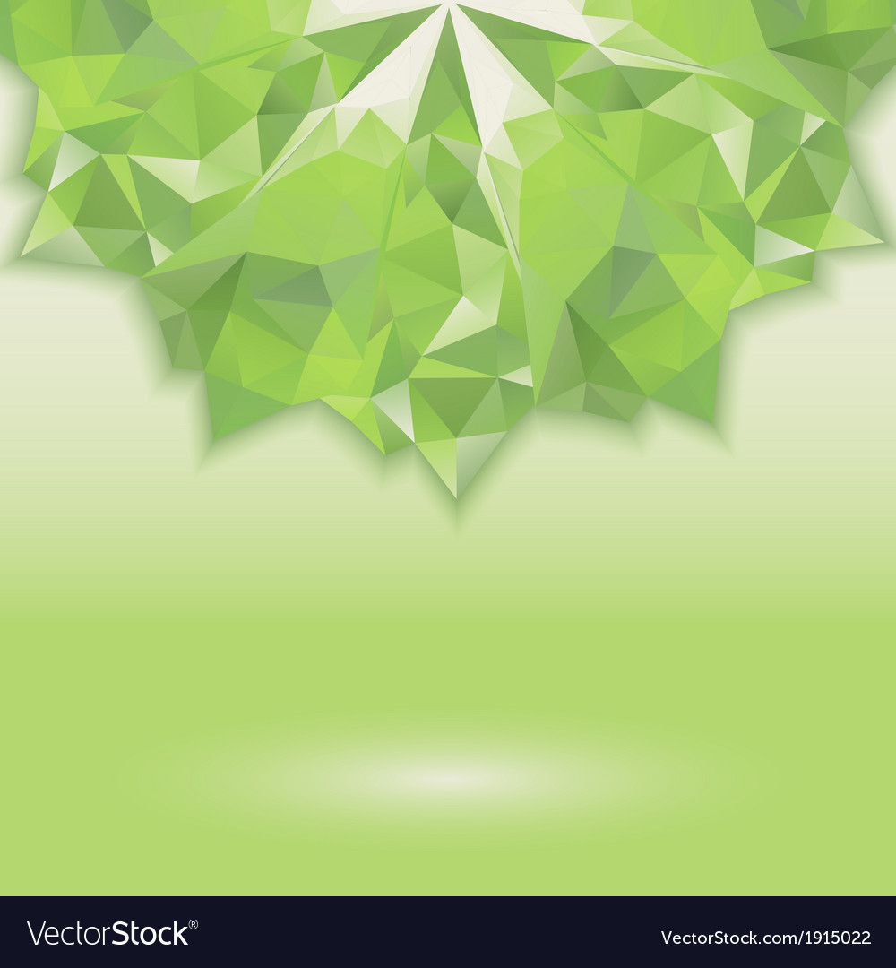 Green triangle crystal horizontal vector | Price: 1 Credit (USD $1)