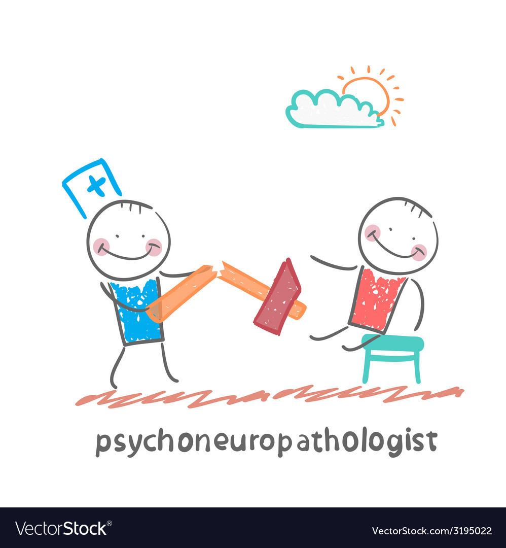 Psychoneuropathologist with a broken hammer after vector | Price: 1 Credit (USD $1)