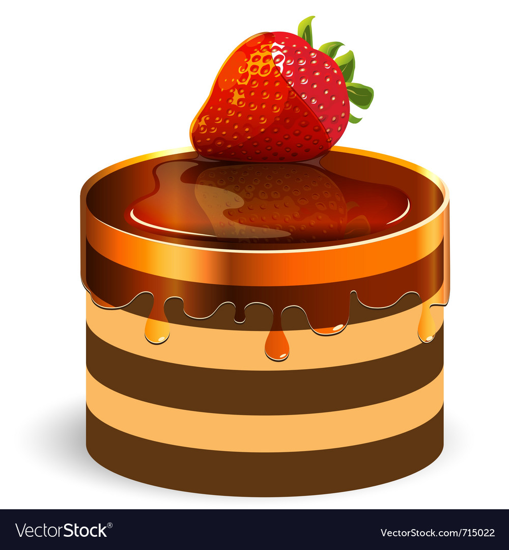 Red strawberry cake vector | Price: 1 Credit (USD $1)