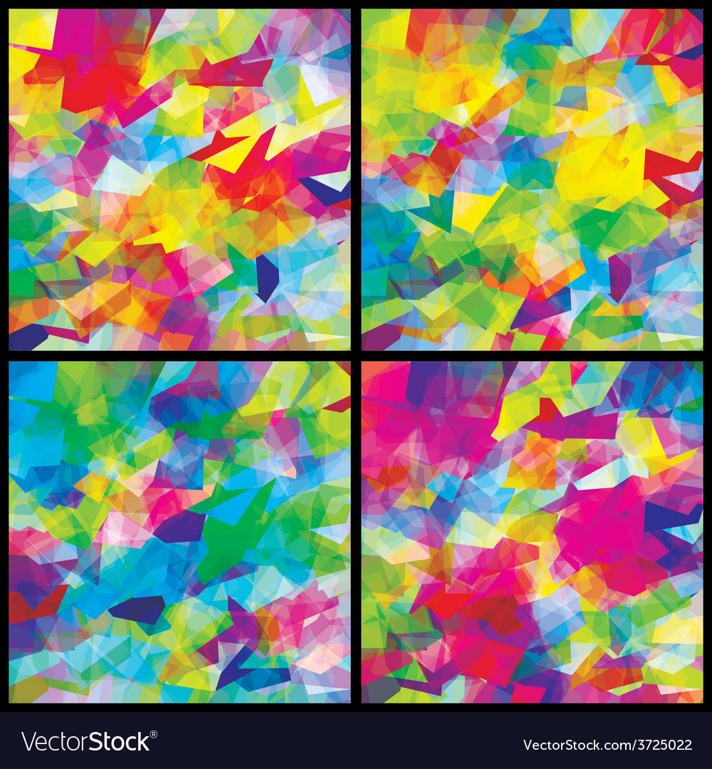 Set background multicolor abstract vector | Price: 1 Credit (USD $1)