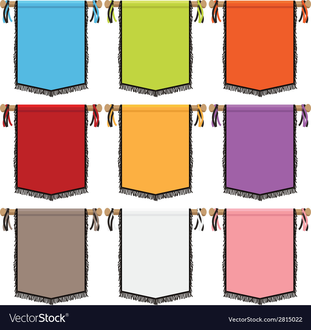 Wall hanging banners vector | Price: 1 Credit (USD $1)
