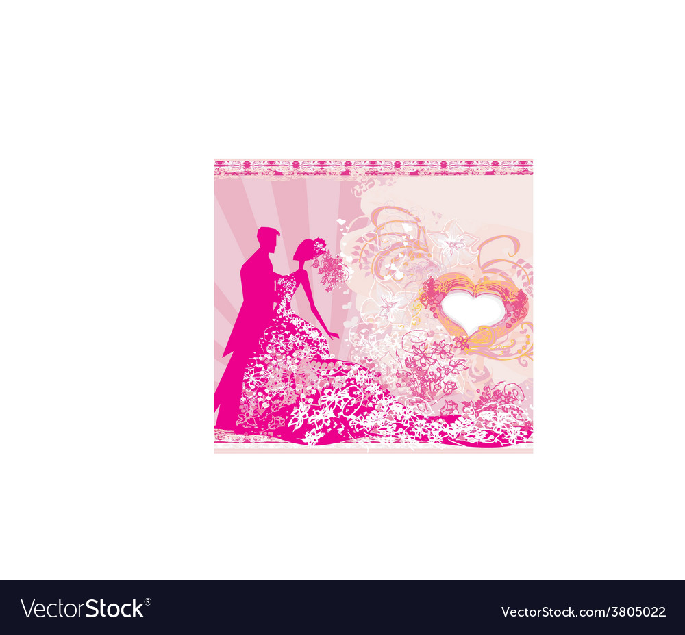 Wedding dancing couple background vector | Price: 1 Credit (USD $1)