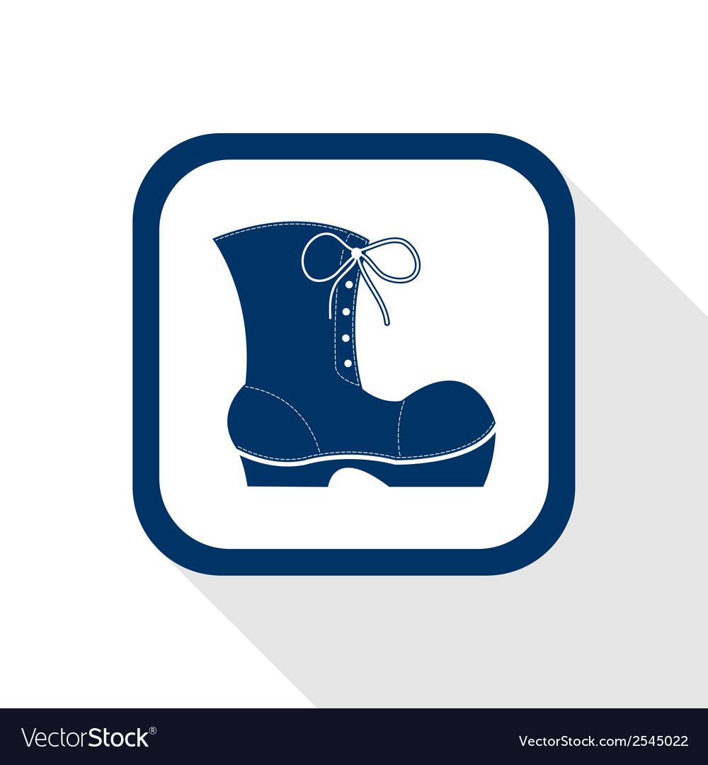 Work boots flat icon vector | Price: 1 Credit (USD $1)