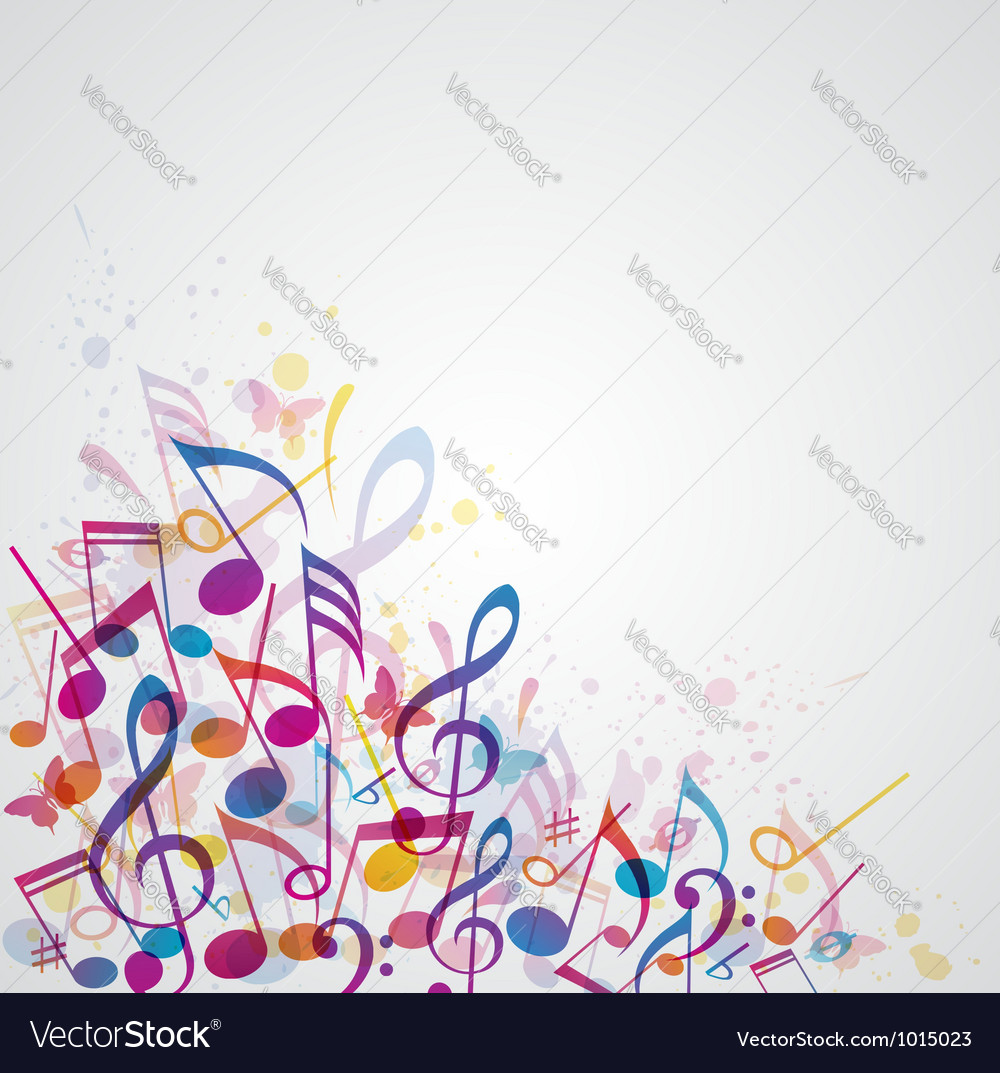 Abstract note music vector | Price: 1 Credit (USD $1)