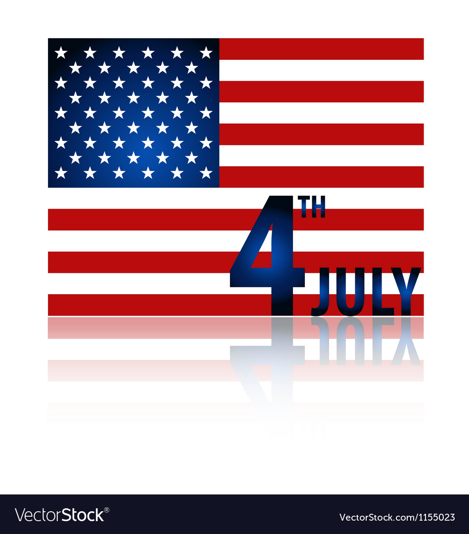 American flag for independence day vector | Price: 1 Credit (USD $1)